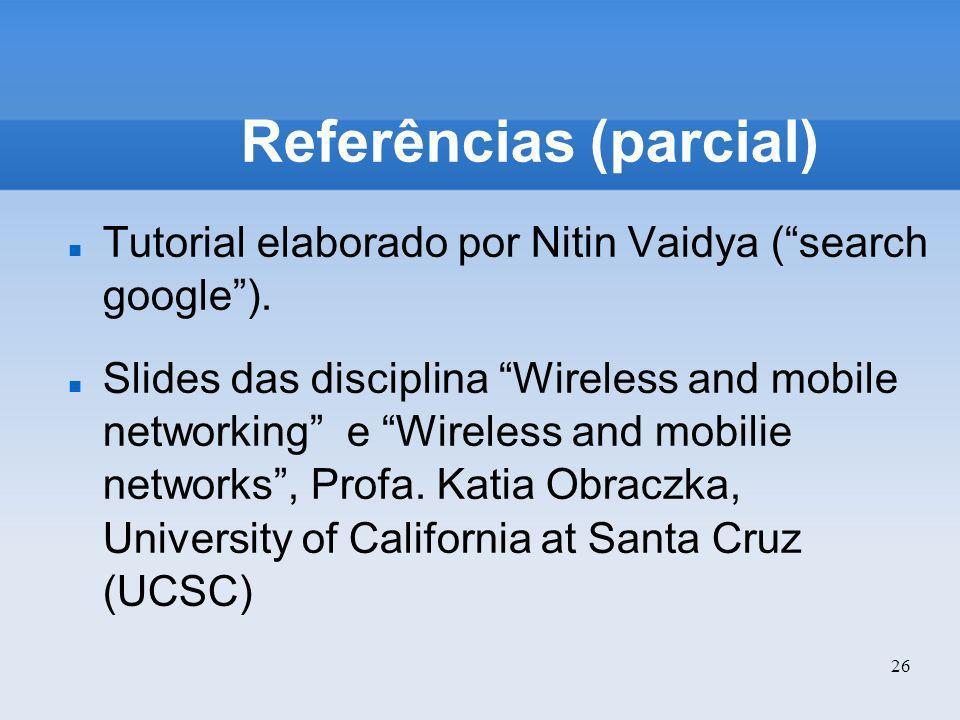 Referências (parcial)