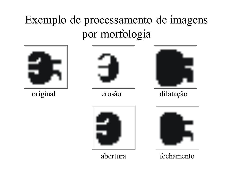 Exemplo de processamento de imagens por morfologia