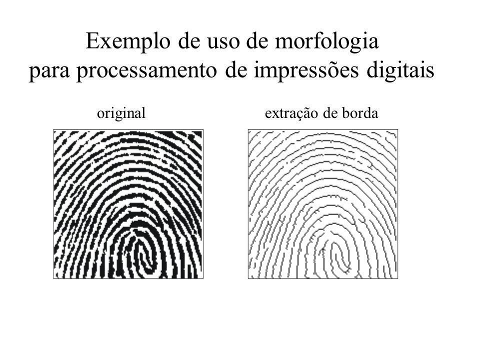Exemplo de uso de morfologia para processamento de impressões digitais