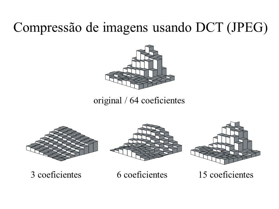 Compressão de imagens usando DCT (JPEG)