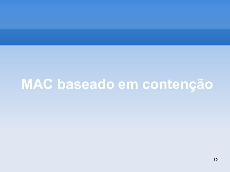 MAC baseado em contenção