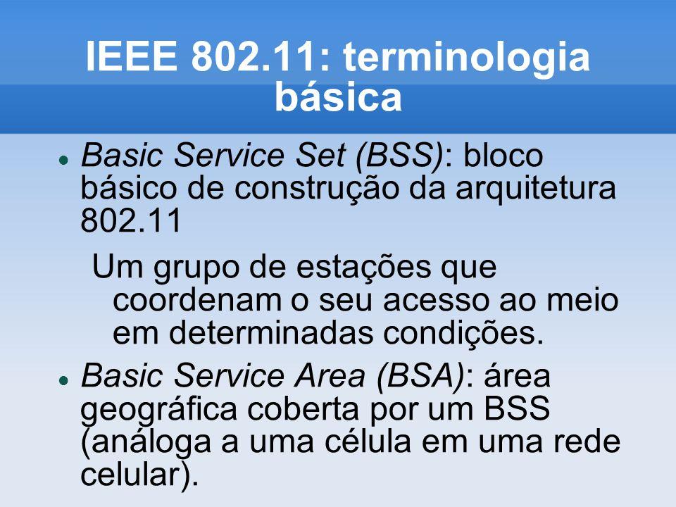 IEEE 802.11: terminologia básica