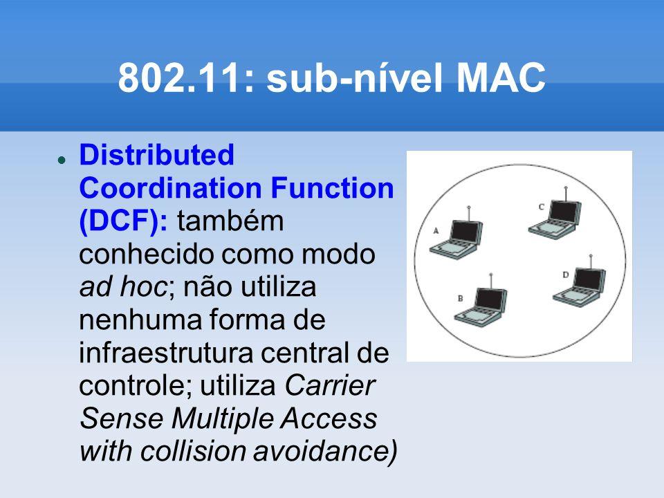 802.11: sub-nível MAC