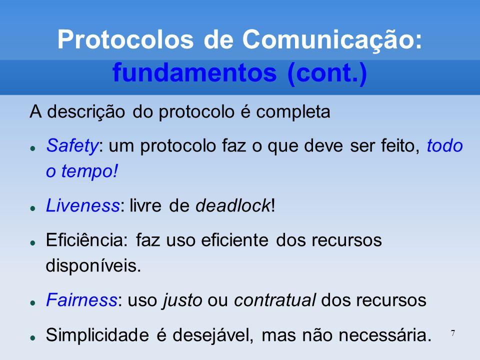 Protocolos de Comunicação: fundamentos (cont.)