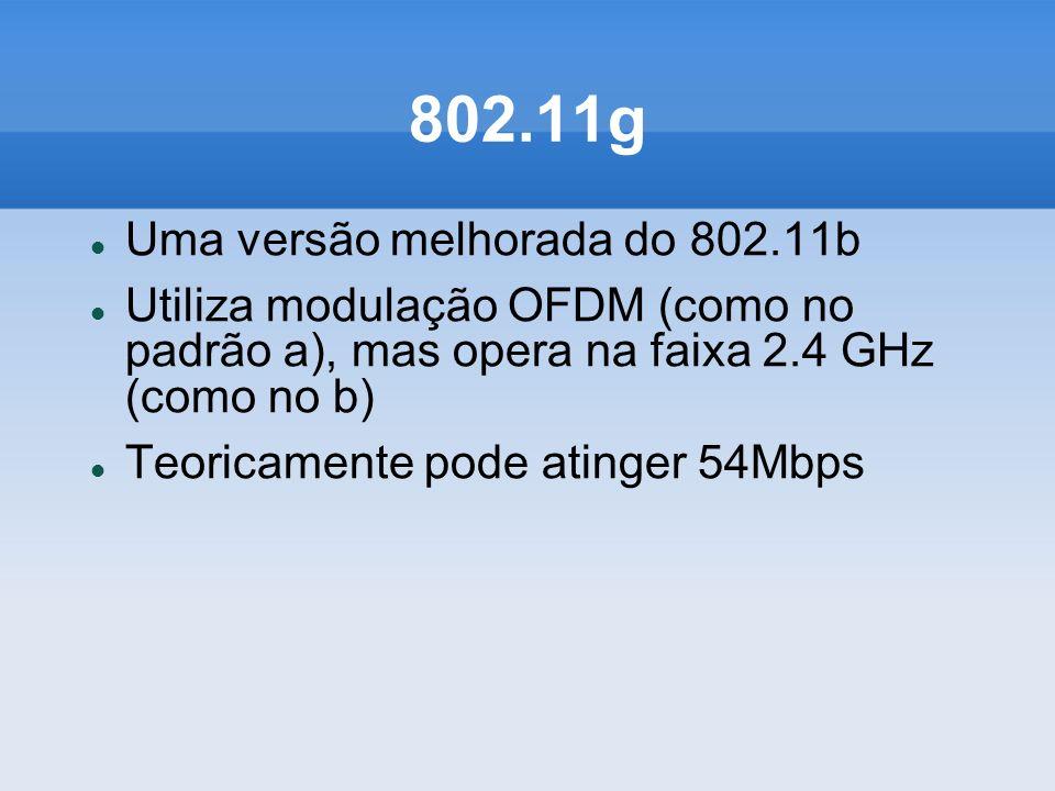 802.11g Uma versão melhorada do 802.11b