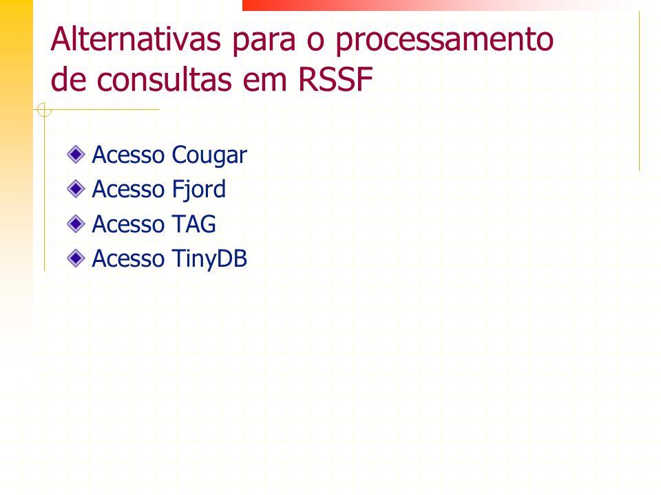 Alternativas para o processamento de consultas em RSSF