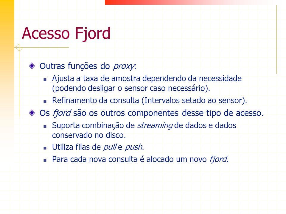 Acesso Fjord Outras funções do proxy: