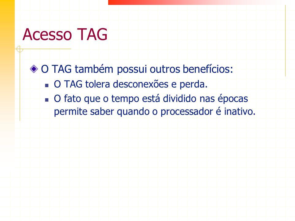 Acesso TAG O TAG também possui outros benefícios: