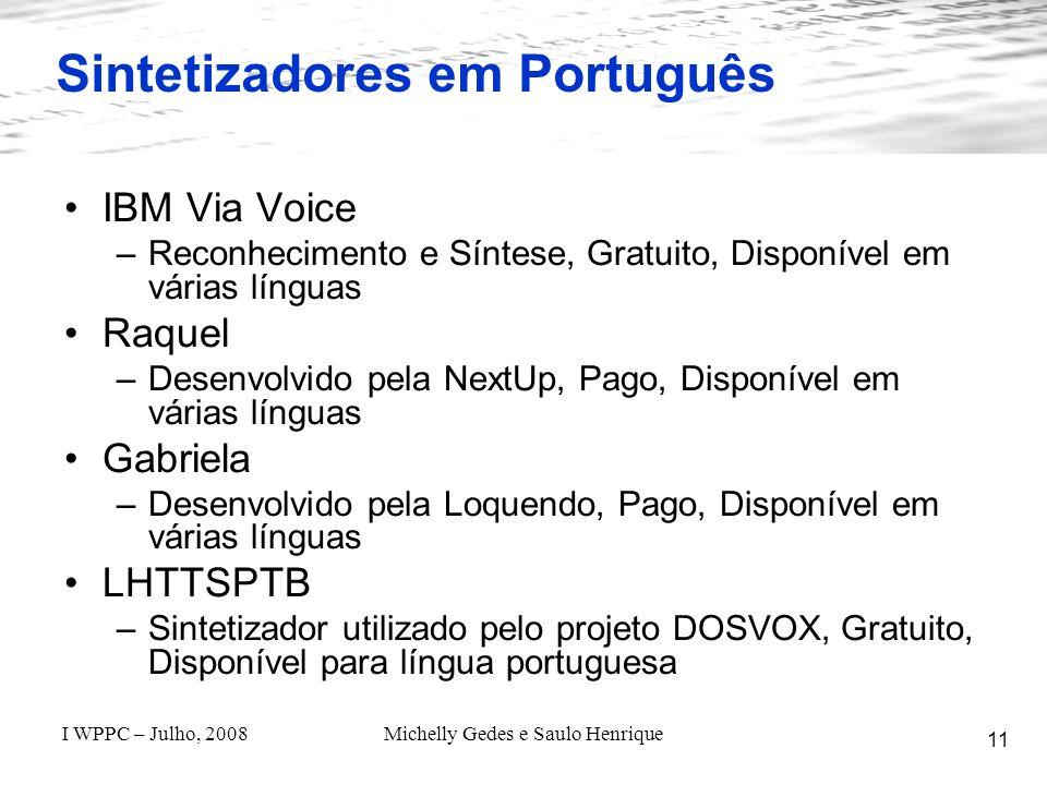 Sintetizadores em Português