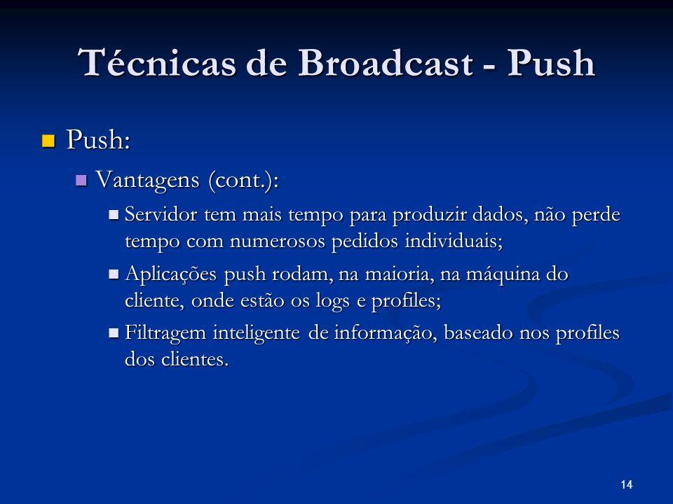 Técnicas de Broadcast - Push
