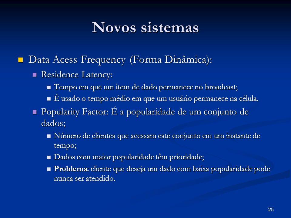 Novos sistemas Data Acess Frequency (Forma Dinâmica):