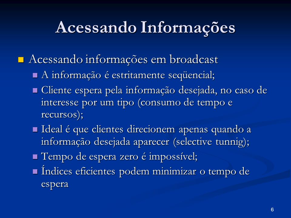 Acessando Informações