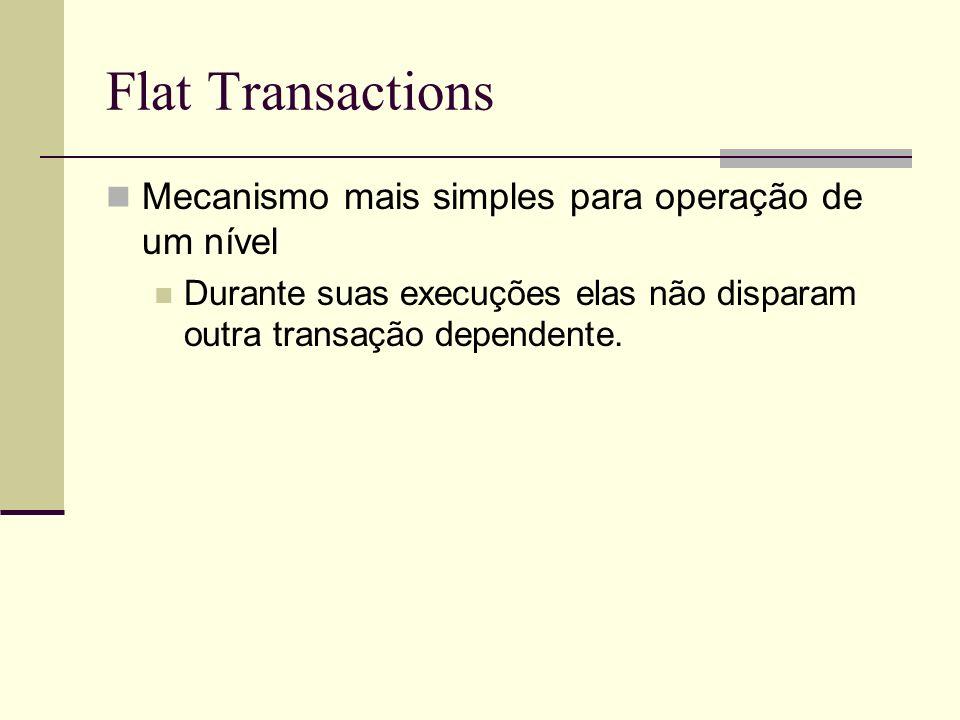 Flat Transactions Mecanismo mais simples para operação de um nível