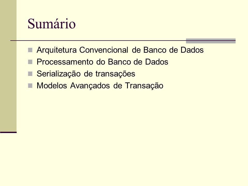 Sumário Arquitetura Convencional de Banco de Dados