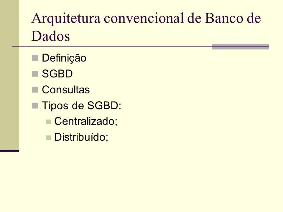 Arquitetura convencional de Banco de Dados