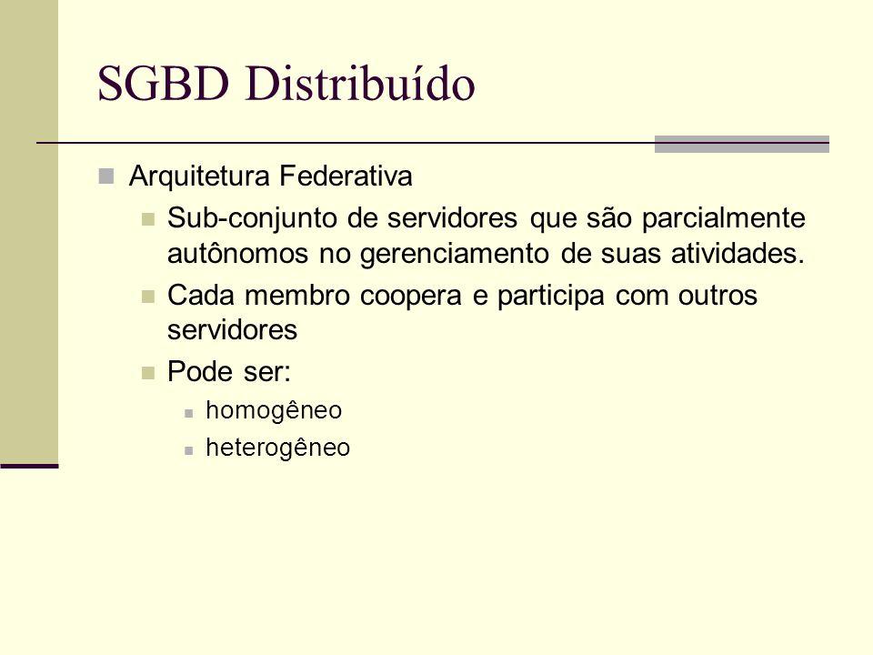 SGBD Distribuído Arquitetura Federativa