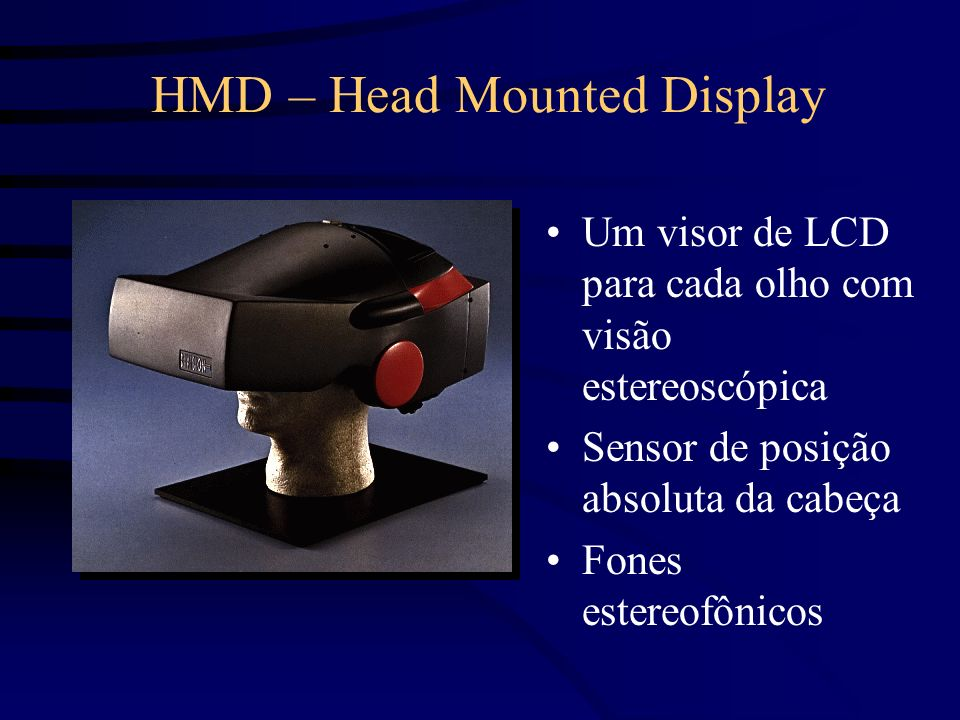 HMD – Head Mounted Display
