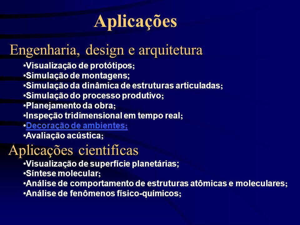 Aplicações Engenharia, design e arquitetura Aplicações cientifícas