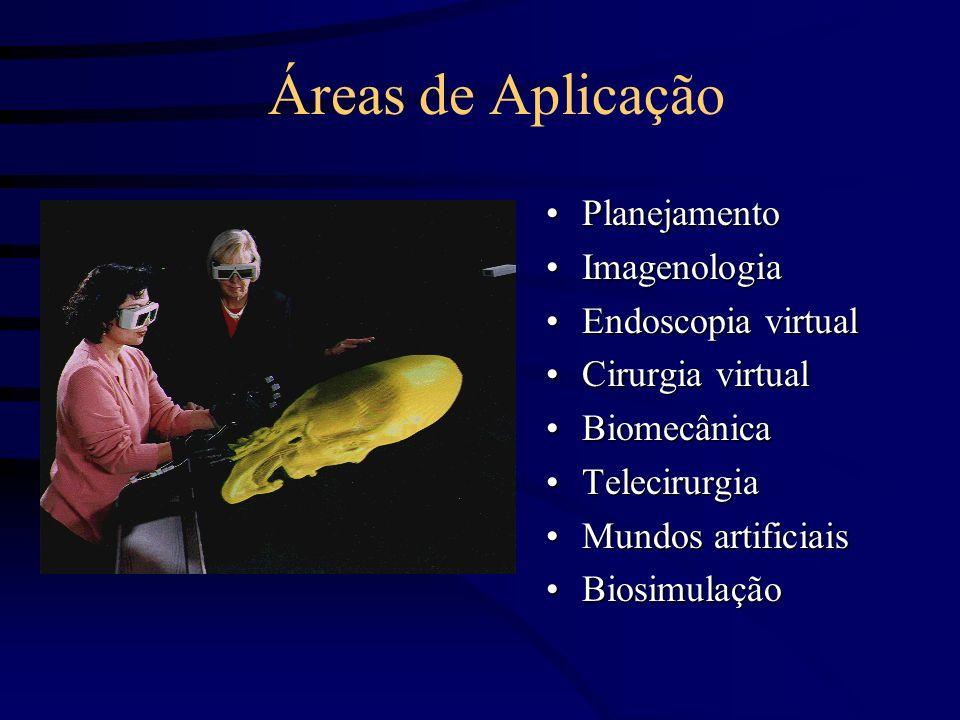Áreas de Aplicação Planejamento Imagenologia Endoscopia virtual