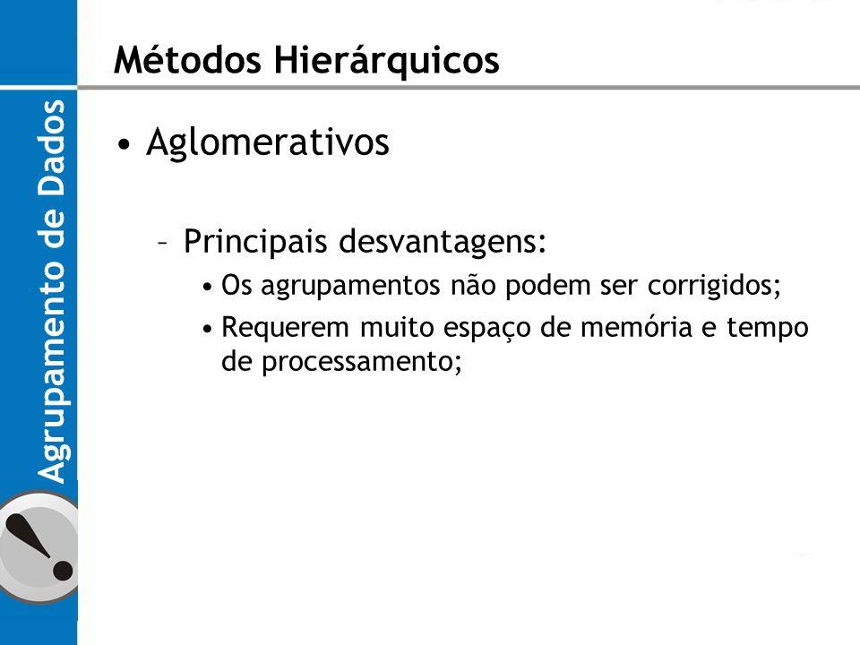 Métodos Hierárquicos Aglomerativos Agrupamento de Dados