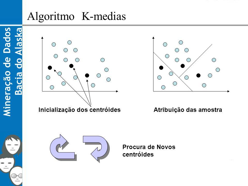 Algoritmo K-medias Mineração de Dados Bacia do Alaska
