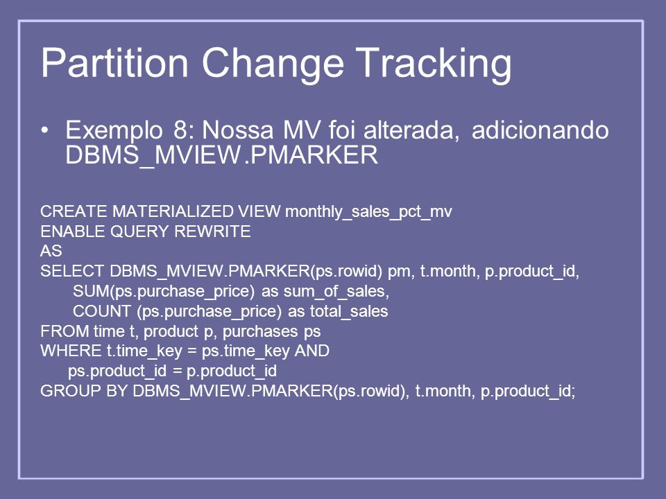 Partition Change Tracking