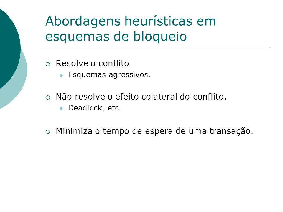 Abordagens heurísticas em esquemas de bloqueio