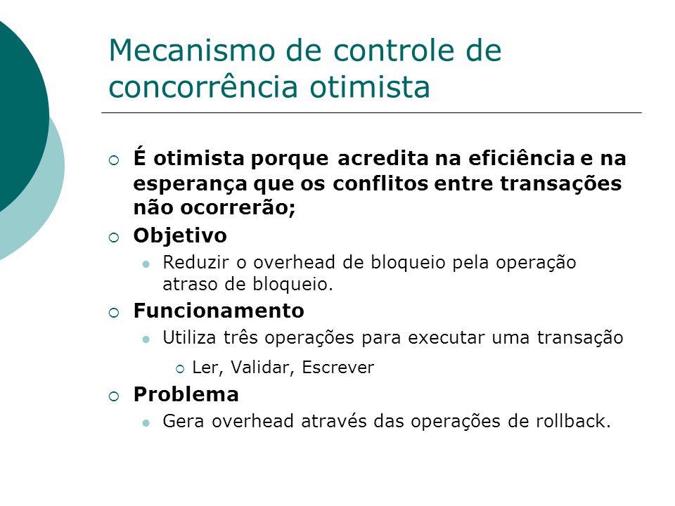 Mecanismo de controle de concorrência otimista
