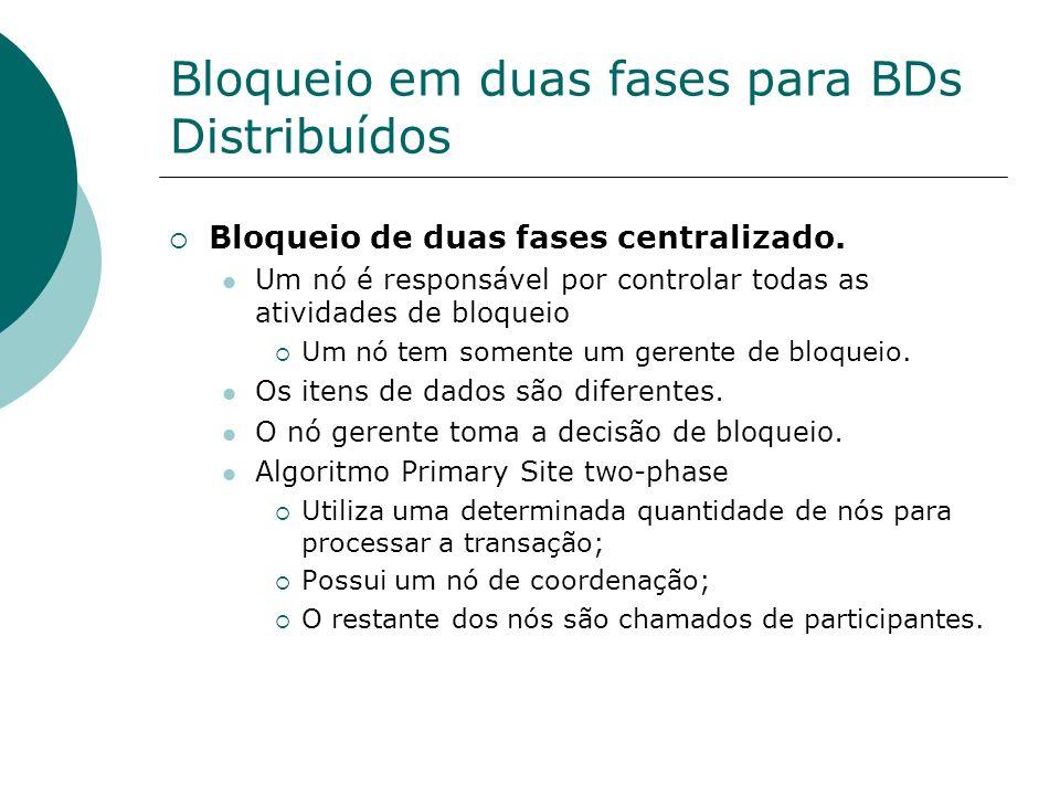Bloqueio em duas fases para BDs Distribuídos
