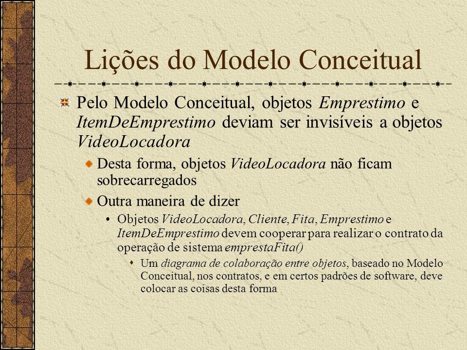 Lições do Modelo Conceitual