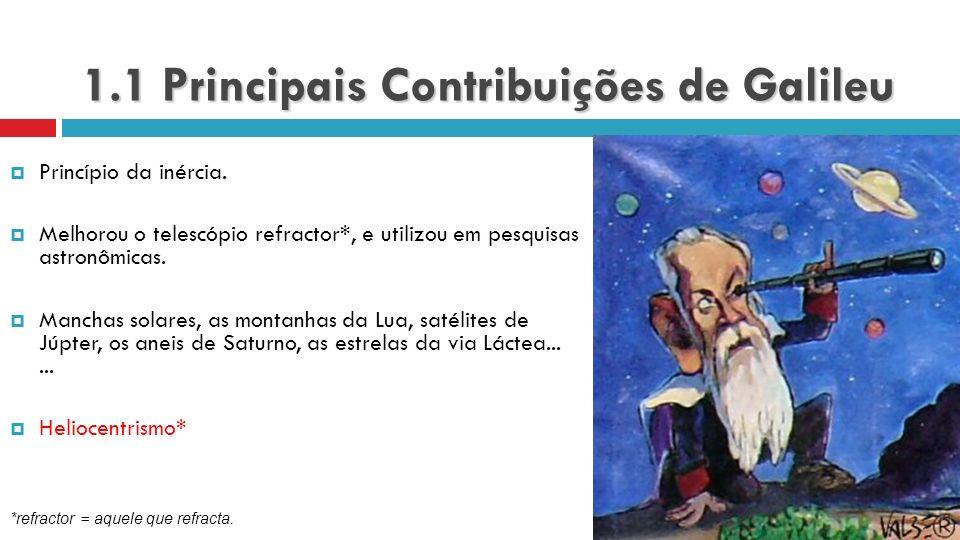 1.1 Principais Contribuições de Galileu