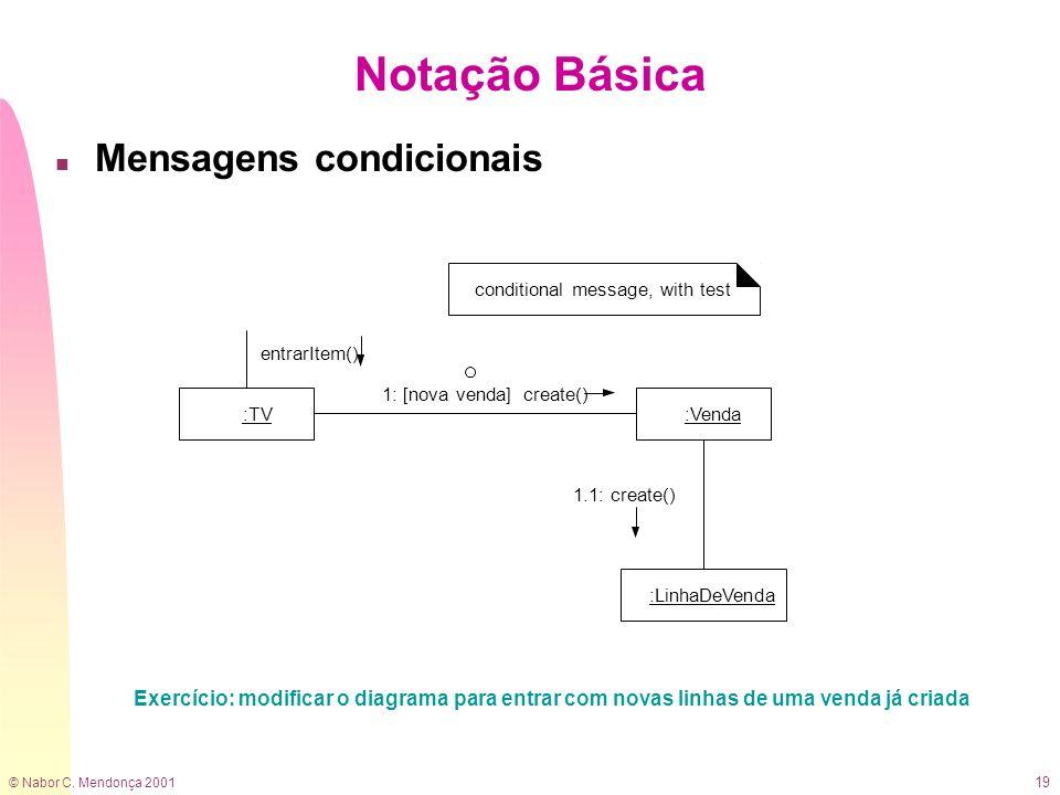 Notação Básica Mensagens condicionais