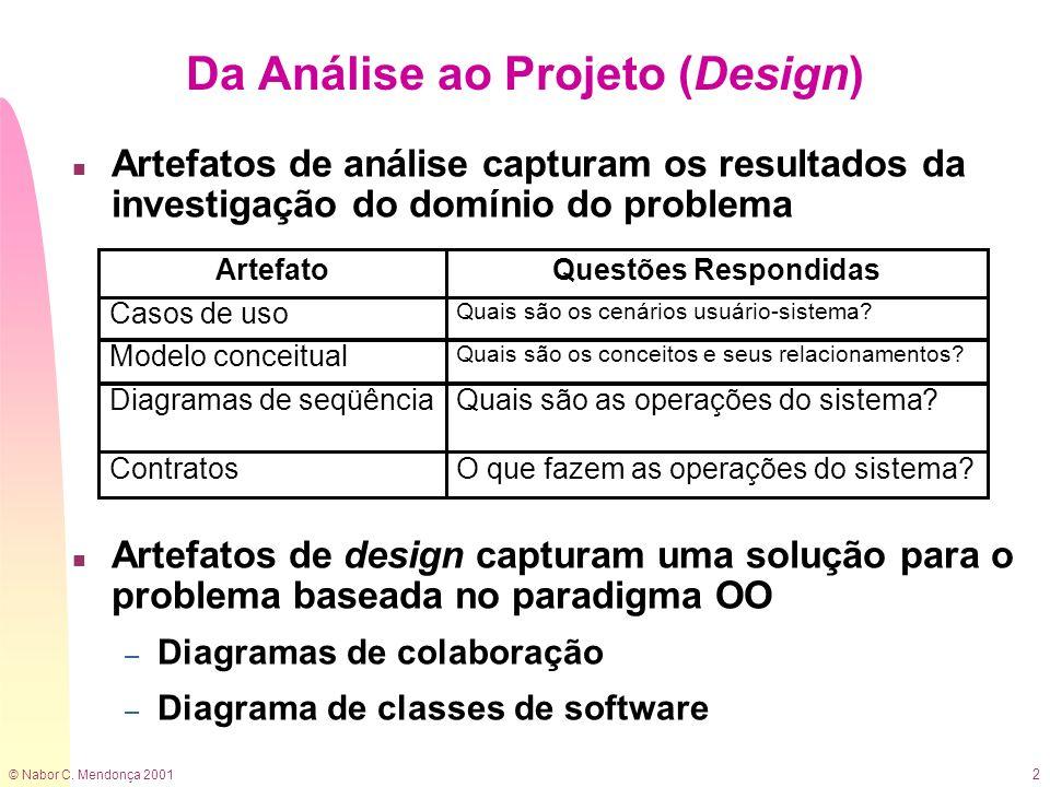 Da Análise ao Projeto (Design)
