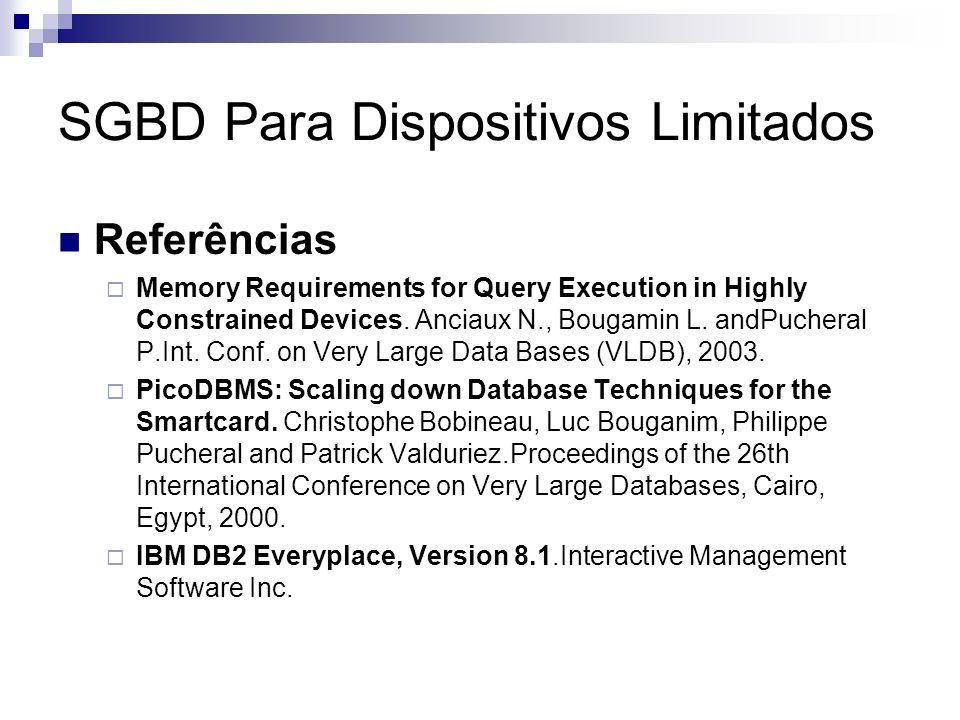 SGBD Para Dispositivos Limitados