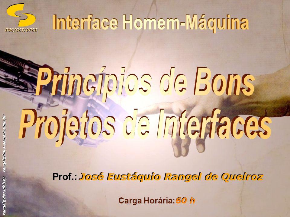Interface Homem-Máquina Projetos de Interfaces