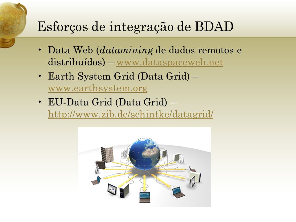 Esforços de integração de BDAD