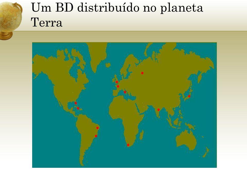 Um BD distribuído no planeta Terra