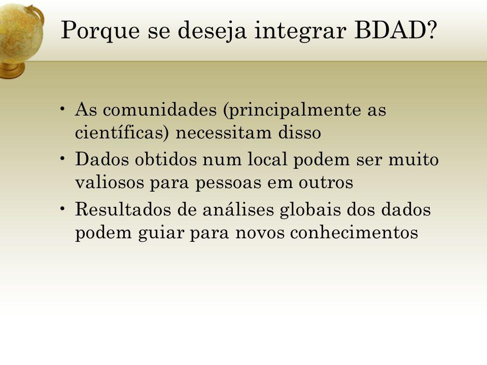 Porque se deseja integrar BDAD