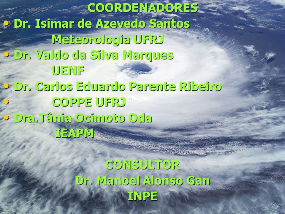 COORDENADORES Dr. Isimar de Azevedo Santos. Meteorologia UFRJ. Dr. Valdo da Silva Marques. UENF.