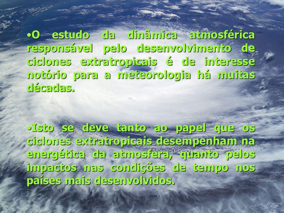 O estudo da dinâmica atmosférica responsável pelo desenvolvimento de ciclones extratropicais é de interesse notório para a meteorologia há muitas décadas.