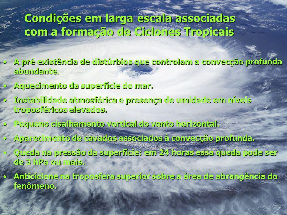 Condições em larga escala associadas com a formação de Ciclones Tropicais