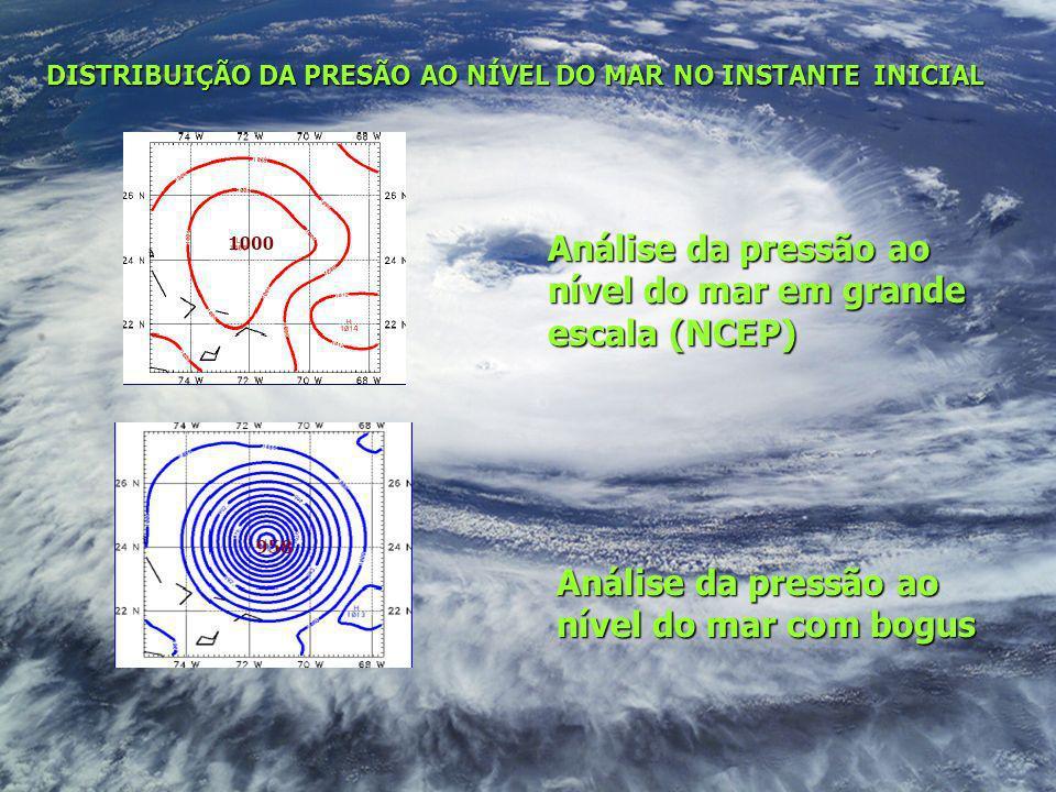 Análise da pressão ao nível do mar em grande escala (NCEP)