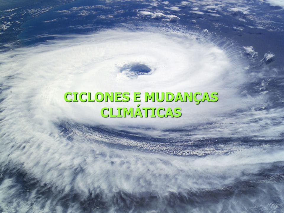 CICLONES E MUDANÇAS CLIMÁTICAS