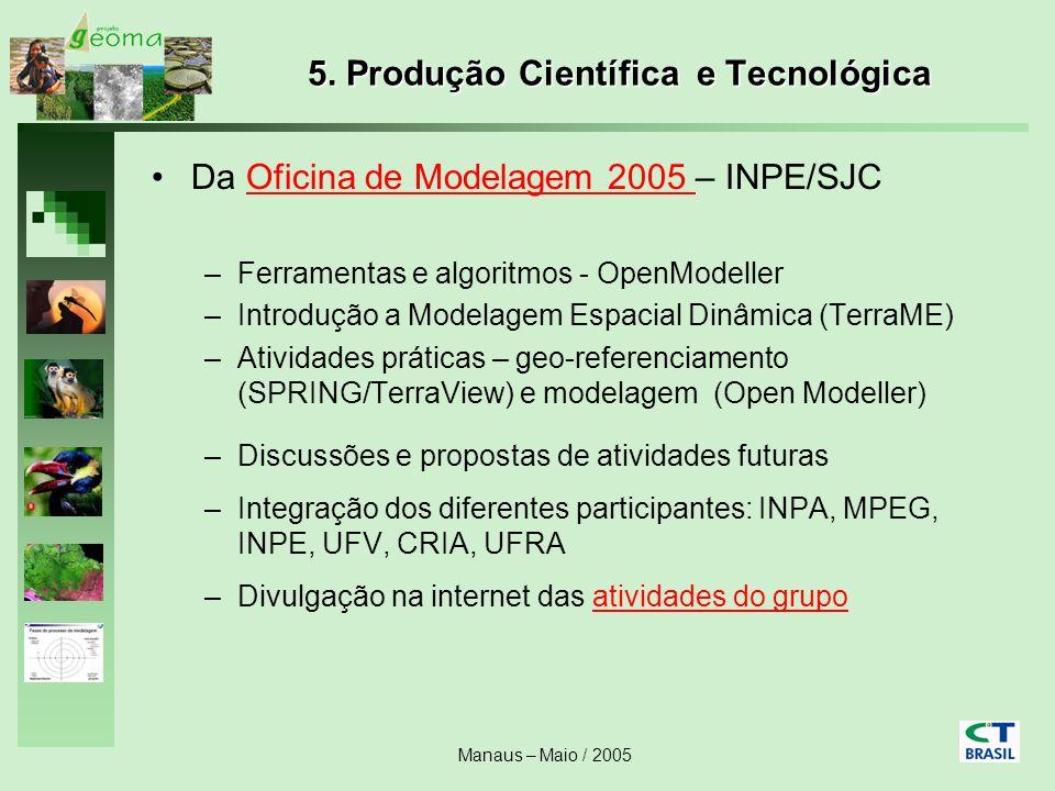 5. Produção Científica e Tecnológica
