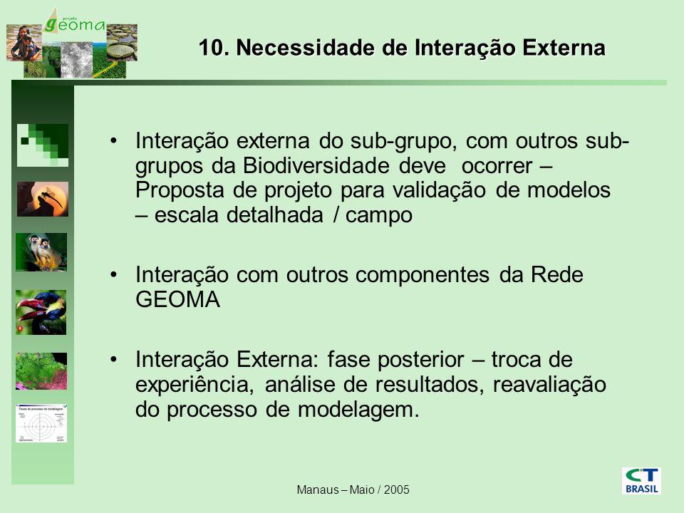 10. Necessidade de Interação Externa