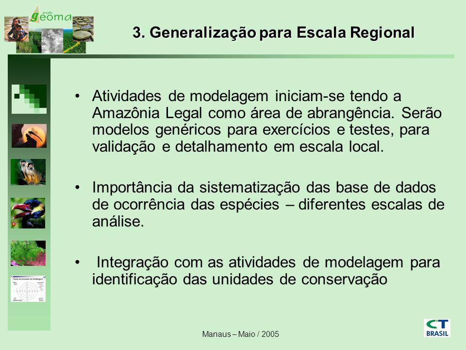 3. Generalização para Escala Regional