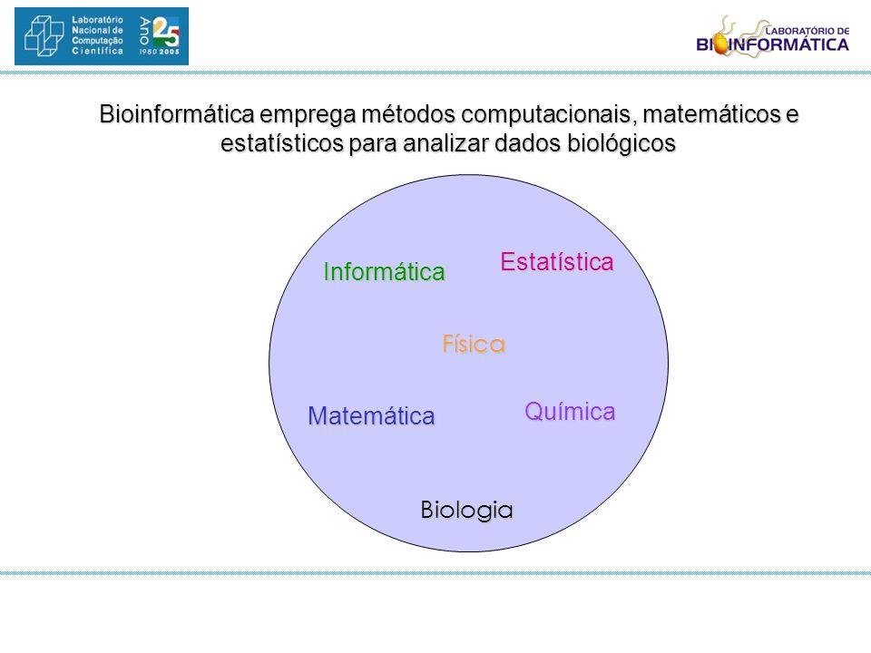 Bioinformática emprega métodos computacionais, matemáticos e estatísticos para analizar dados biológicos