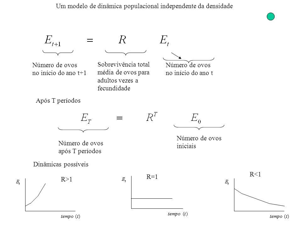 Um modelo de dinâmica populacional independente da densidade