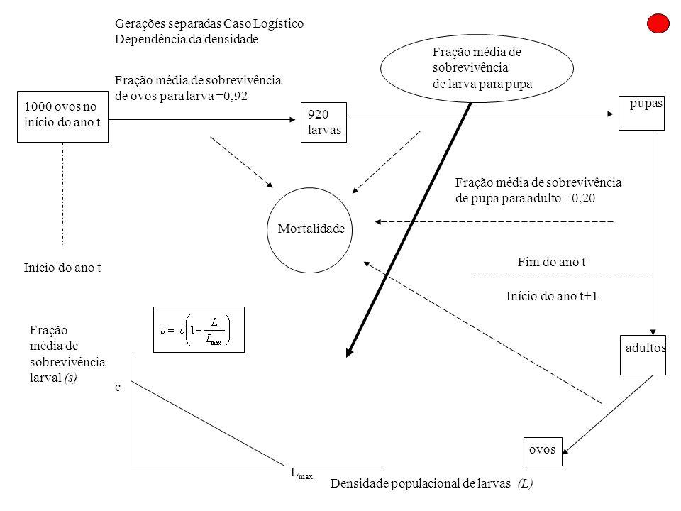 Gerações separadas Caso Logístico