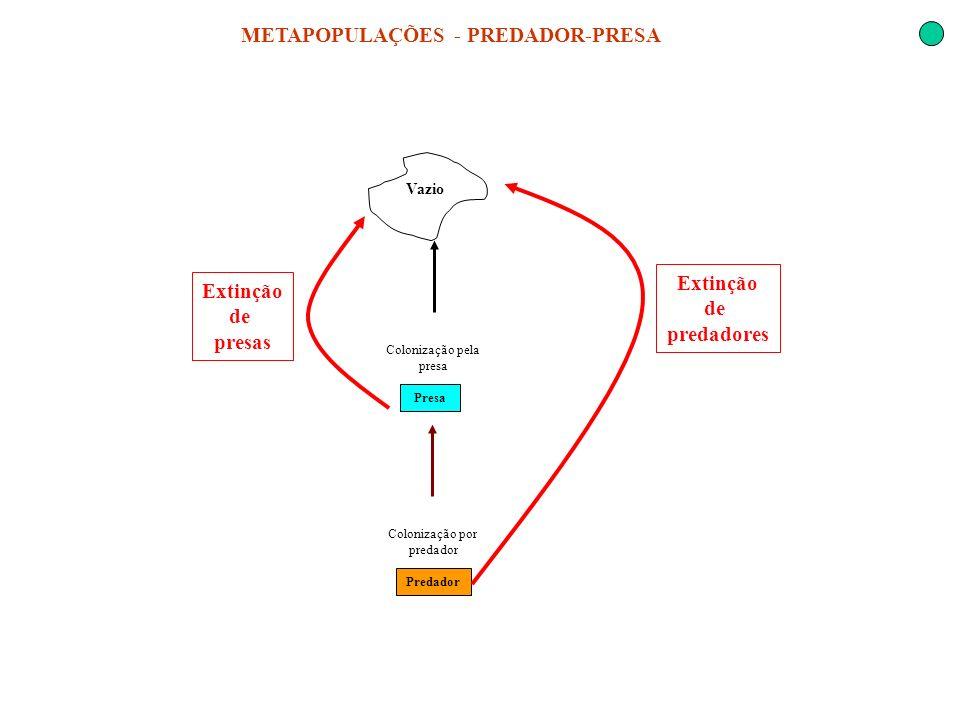 METAPOPULAÇÕES - PREDADOR-PRESA